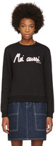 Carven Black moi Aussi Sweatshirt