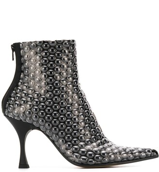 MM6 MAISON MARGIELA Bubble Wrap Print Ankle Boots