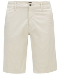HUGO BOSS Slim Fit Chino Shorts In Lightweight Stretch Cotton Twill - Light Beige