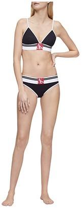Calvin Klein Underwear One Sock Waist Band Bikini (Black) Women's Underwear