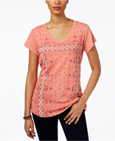 Style&Co. Style & Co Petite Geometric-Print T-Shirt, Only at Macy's