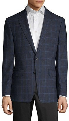 Calvin Klein Windowpane Plaid Slim-Fit Sportcoat
