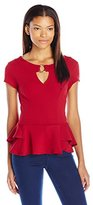 Amy Byer A. Byer Juniors Double Tiered Peplum Top
