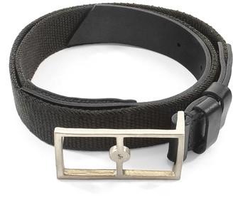 Anchor & Crew Grey Elastic Signature Glenam Leather & Nickel Belt