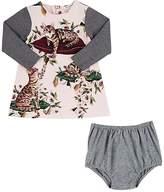 Dolce & Gabbana Floral- & Cat-Print Sweater-Sleeve Dress & Bloomers
