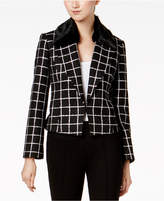 Nine West Tweed Faux-Fur-Trim Blazer