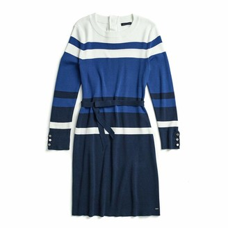 Tommy Hilfiger Women's Adaptive Colorblock Dress with Magnetic Buttons