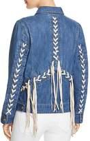 Blank NYC BLANKNYC Lace-Up Denim Jacket - 100% Exclusive