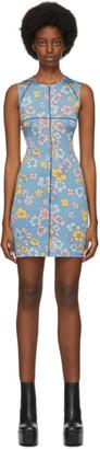 Eckhaus Latta SSENSE Exclusive Blue Floral Sport Dress