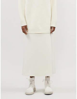 The Row Saio wool and silk-blend wrap midi skirt