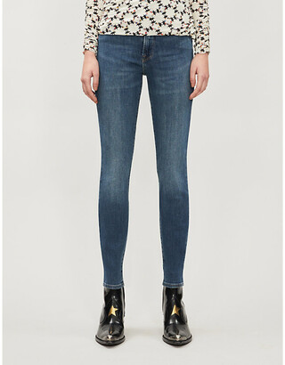 Good American Good Waist faded skinny high-rise jeans