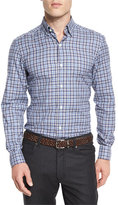 Ermenegildo Zegna Check Long-Sleeve Sport Shirt