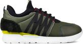 MSGM Green 4 Eye Webbing Sneakers