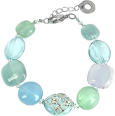 Antica Murrina Veneziana Florinda Top T Light Blue and Green Murano Glass Beads Bracelet