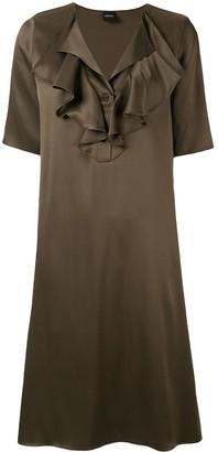 Aspesi ruffle neck dress