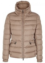 Moncler Irex Light Brown Quilted Shell Jacket