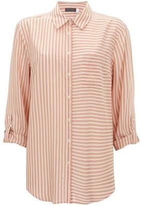 Mint Velvet Blush & Ivory Striped Shirt