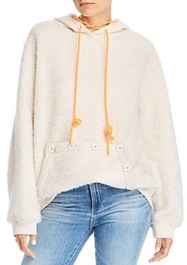 Sjyp Fleece Hooded Sweatshirt