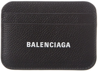 Balenciaga Logo Leather Card Holder