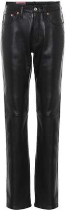 Acne Studios Leather high-rise straight pants