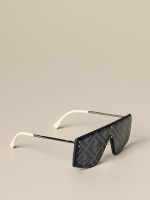 Fendi Metal And Acetate Sunglasses With Ff Logo