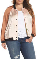 Melissa McCarthy Reversible Embroidered Bomber Jacket (Plus Size)