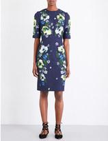 Erdem Ivy floral-matelassé dress