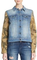 Joe's Jeans Camo Print-Paneled Denim Jacket