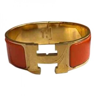 Hermã ̈S HermAs Clic H Orange Gold plated Bracelets