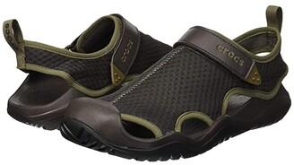 Crocs Swiftwater Mesh Deck Sandal (Black) Men's Sandals