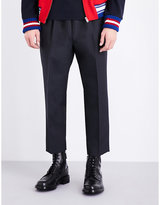 Gucci Wide-fit Tapered Wool Trousers