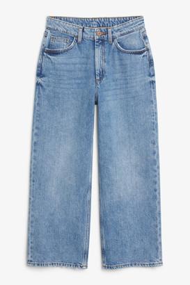 Monki Mozik mid blue jeans