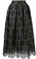 Rochas circle pattern full skirt - women - Silk - 40