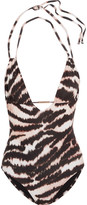 Melissa Odabash Casablanca halterneck printed swimsuit