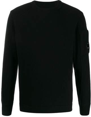 C.P. Company ribbed detail crew neck sweater