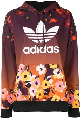adidas Floral Print Hoodie