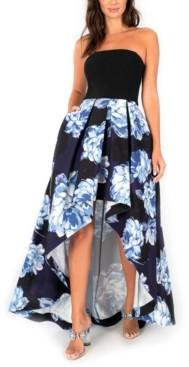 Speechless Juniors' Floral-Skirt High-Low Dress