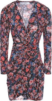 IRO Fling Wrap-effect Pleated Silk Crepe De Chine Dress