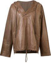By. Bonnie Young leather anorak