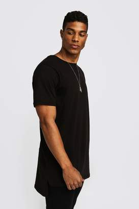 boohoo Basic Longline Step Hem T-Shirt