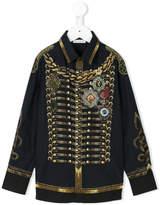Dolce & Gabbana military print shirt