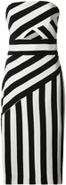 Milly cut-out detail striped dress - women - Polyester/Viscose - 8