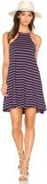 Bobi Double Stripe Jersey Tank Mini Dress