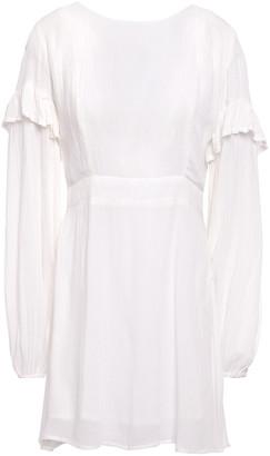 SUNDRESS Margherita Tassel-trimmed Crinkled Gauze Mini Dress