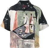 Prada Wine Bottles Bowling Shirt