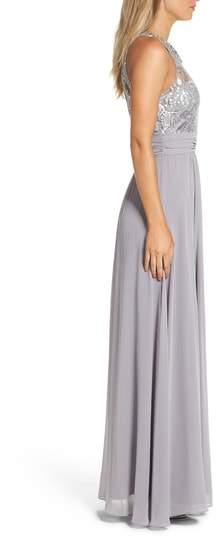 Eliza J Women's Lace Bodice Gown