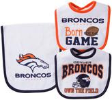 Gerber Denver Broncos Three-Piece Bib Set