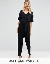 Asos TALL Belted Jumpsuit with Kimono Sleeve