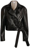 Magda Butrym Leather Utah Cropped Jacket