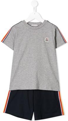 Moncler Enfant logo T-shirt and shorts set